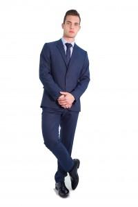 Тёмно-синий мужской костюм 738 (OSCAR-UV5BN552)