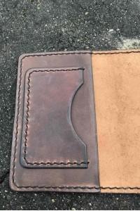 Коричневый кожаный чехол для паспорта ручной работы А-101