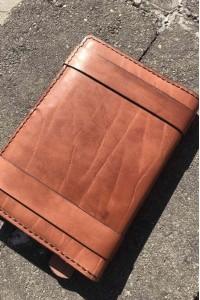 Коричневый кожаный ежедневник ручной работы А-108