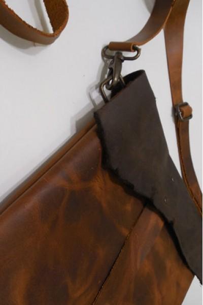 Кожаная сумка-планшетка