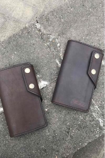 Тёмно-коричневое портмоне