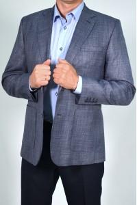 Серый молодёжный мужской пиджак с накладными карманами 2020 (ROLEX-1089)