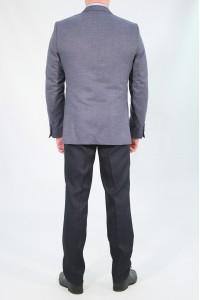 Серый мужской пиджак под джинсы 777 (DIKMEN-UV5BN)