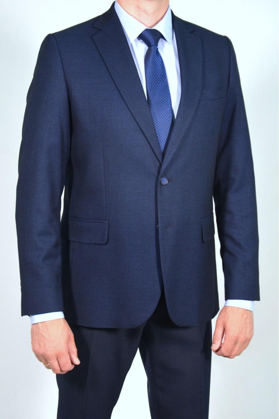 Тёмно-синий классический мужской пиджак 812 (WILSON-1682)