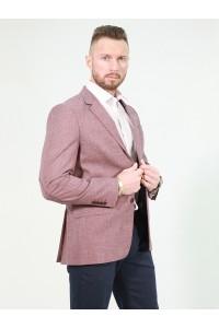 Розовый мужской пиджак под джинсы 823 (19519-162)