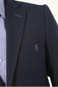 Чёрный мужской пиджак под джинсы 828 (RUDY-168)