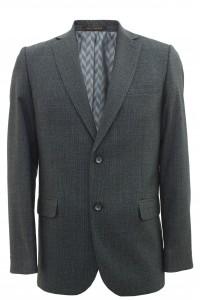 Серый мужской пиджак в черную клетку 892 (NIKOLO-1682)