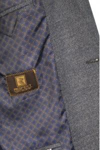 Серый мужской кэжуал пиджак с коричневыми локтями  899 (SARDON-1682)