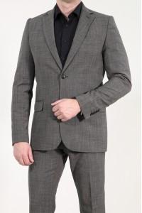 Тёмно-серый мужской пиджак под джинсы 901 (VINCENT-1682)