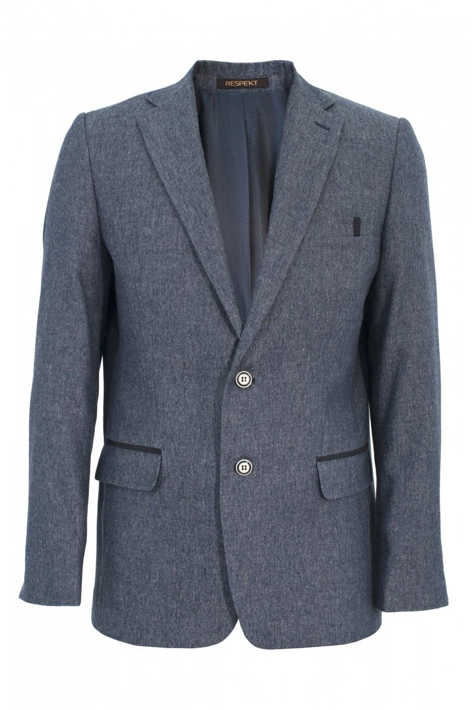 Cерый мужской пиджак под джинсы 906 (DORIAN-168)