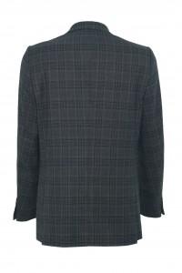 Серый мужской пиджак в черную клетку 908 (1806-1682)