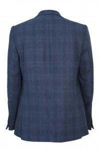 Тёмно-синий мужской пиджак в синюю клетку 914 (1657-1802)