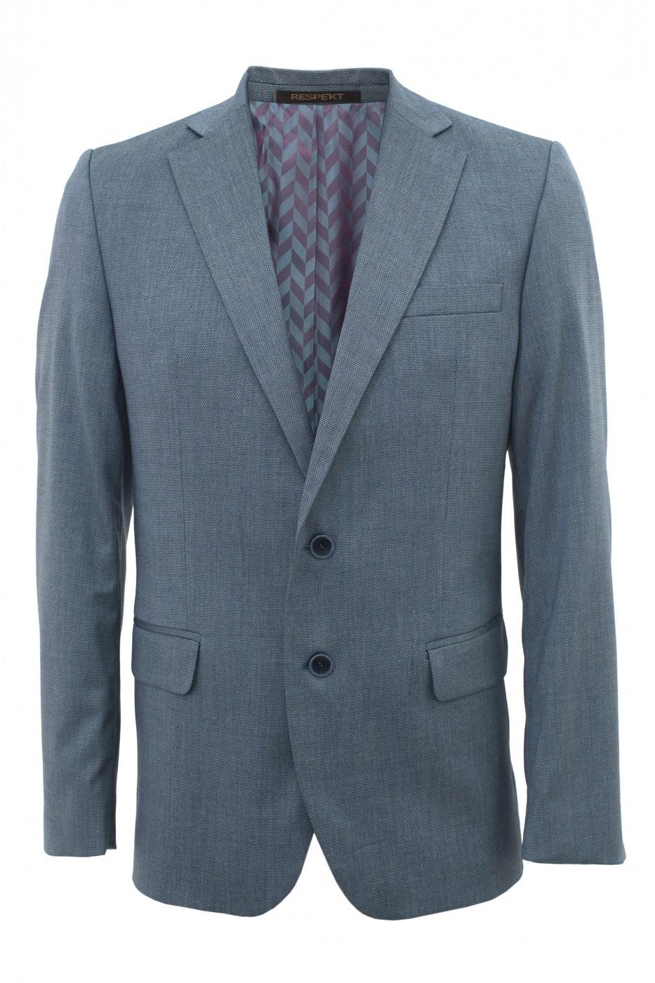 Серый мужской пиджак под джинсы 918 (GOZUR-1802)