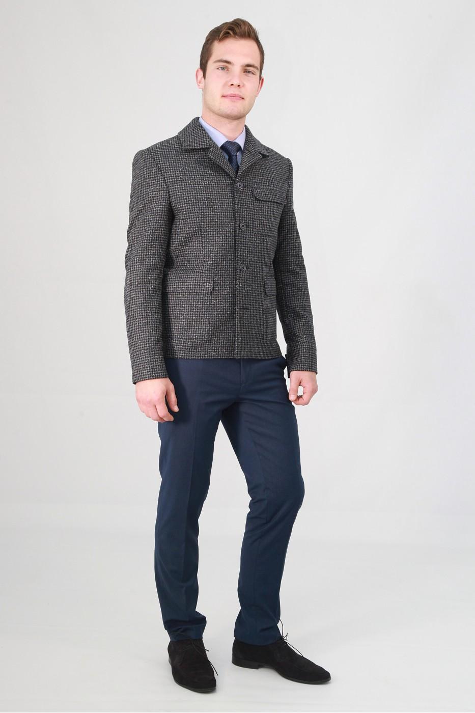 Серый мужской пиджак под джинсы 590 (ROCCIA-117)