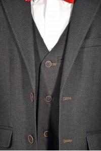 Тёмно-коричневый школьный жилет - Д 2003Ж (RODNEY)