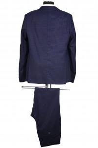 Тёмно-синий школьный пиджак в клетку детский - Д 2007П (BENNY BLUE)