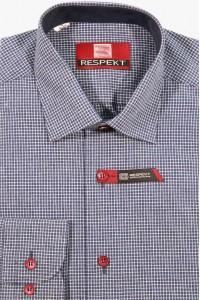 Серая мужская рубашка в мелкую клетку 150
