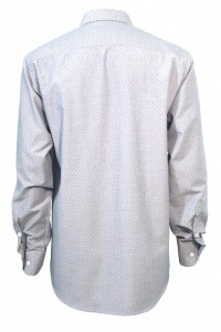 Серая мужская рубашка в чёрную крапинку 305 (53-08)