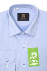 Голубая мужская рубашка оксфорд 306 (54-07)