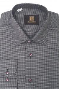 Серая мужская рубашка в мелкую клетку 309 (54-07)