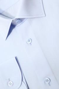 Голубая мужская классическая однотонная рубашка 347 (53-08)