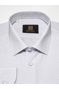Белая мужская рубашка в мелкую фактуру ДР 364 (56)