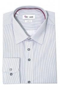 Белая мужская рубашка в мелкую полоску D45SF