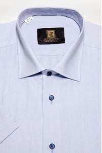 Голубая мужская рубашка оксфорд с коротким рукавом КР 260 (5407А)