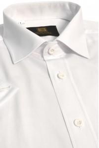 Белая мужская офисная рубашка с коротким рукавом КР 314 (53-08)
