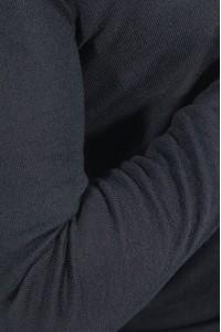 Чёрный мужской однотонный джемпер с v-образным вырезом 2003