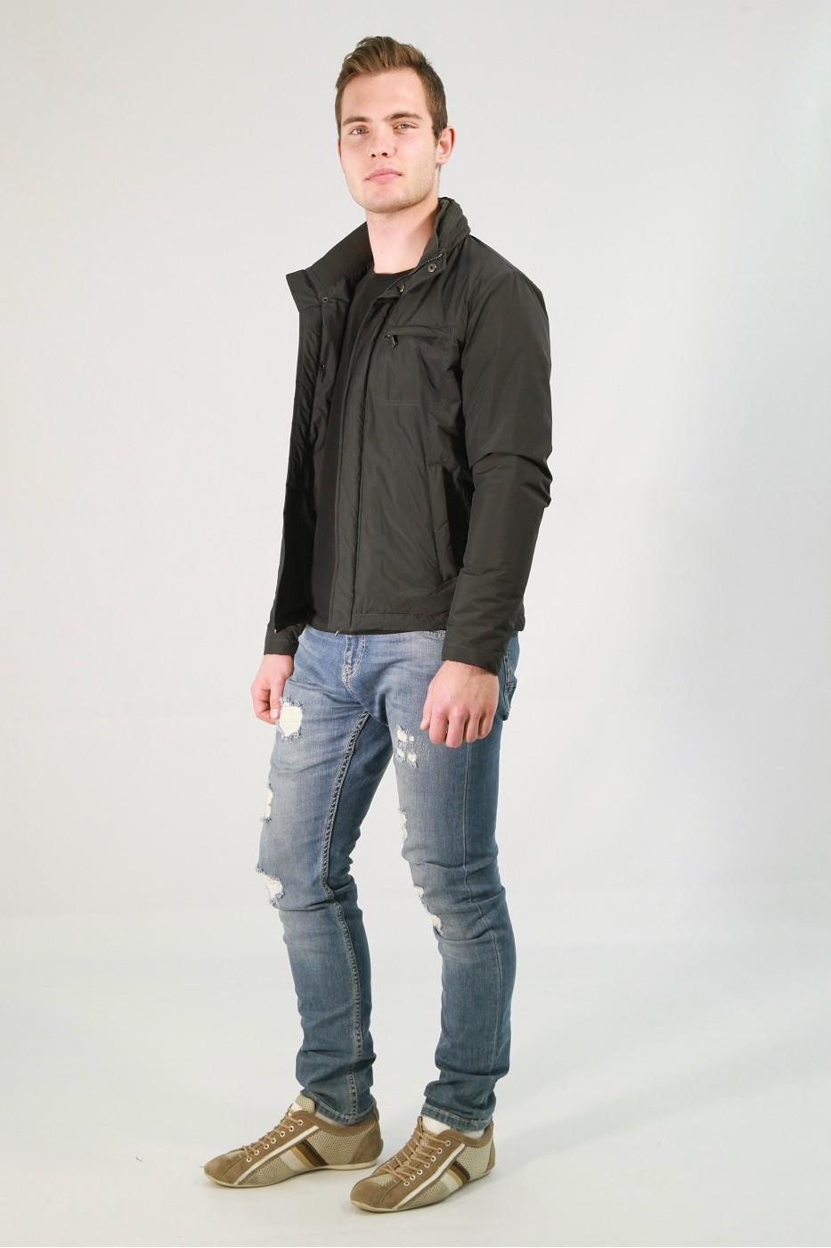 Чёрная мужская куртка кэжуал НМЗ-183