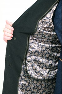 Чёрное мужское зимнее пальто 826 (LEONARDO-1876)