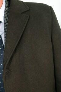 Чёрное мужское зимнее пальто 827 (LEONARDO-1876)
