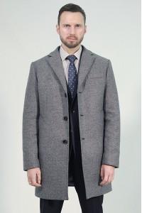 Серое мужское зимнее пальто 873 (DAYTONA-226)