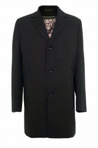 Чёрное мужское зимнее пальто 876 (JAKE-1876)
