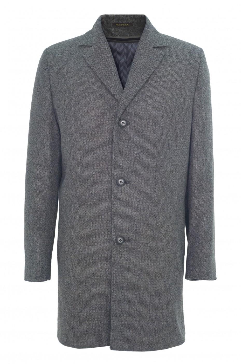 Серое мужское зимнее пальто 877 (JENNI-1876)