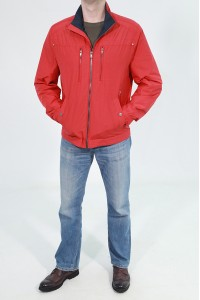 Красная весенняя мужская ветровка 068531N01C ЦВ.36-398
