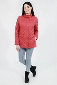 Красная женская стеганая ветровка 611840N10C ЦВ.60