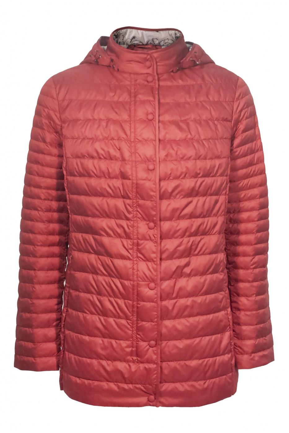 Красная женская демисезонная куртка 750720N11C ЦВ.31