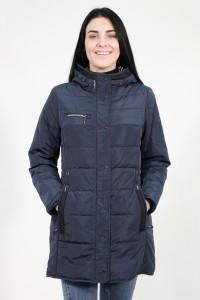 Синяя осенняя удлинённая женская куртка 947960N10N ЦВ.98P