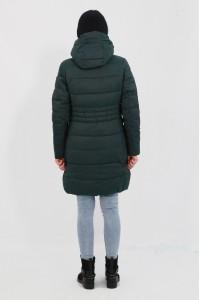 Тёмно-зелёная зимняя женская куртка 021480N21С ЦВ.109