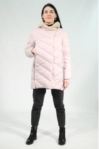 Розовая женская зимняя куртка с меховым капюшоном 705360Y21C ЦВ.223