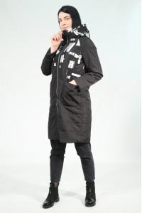Чёрная женская демисезонная куртка 722720N10C ЦВ.100