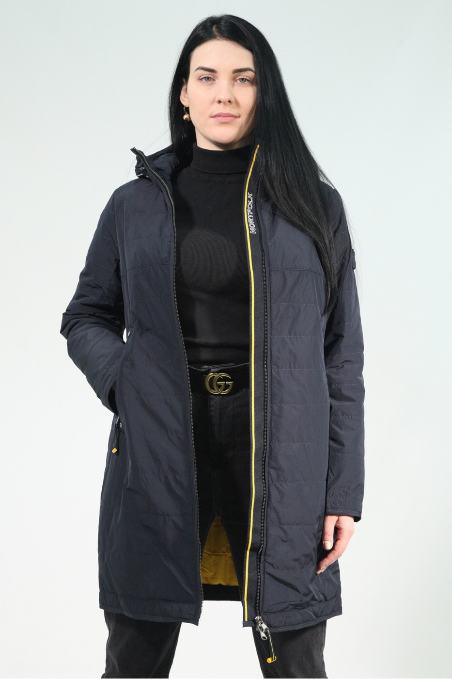 Тёмно-синяя женская зимняя куртка 731360N15N ЦВ.200