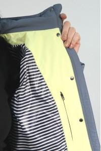 Голубая женская демисезонная куртка 856720N10C ЦВ.206