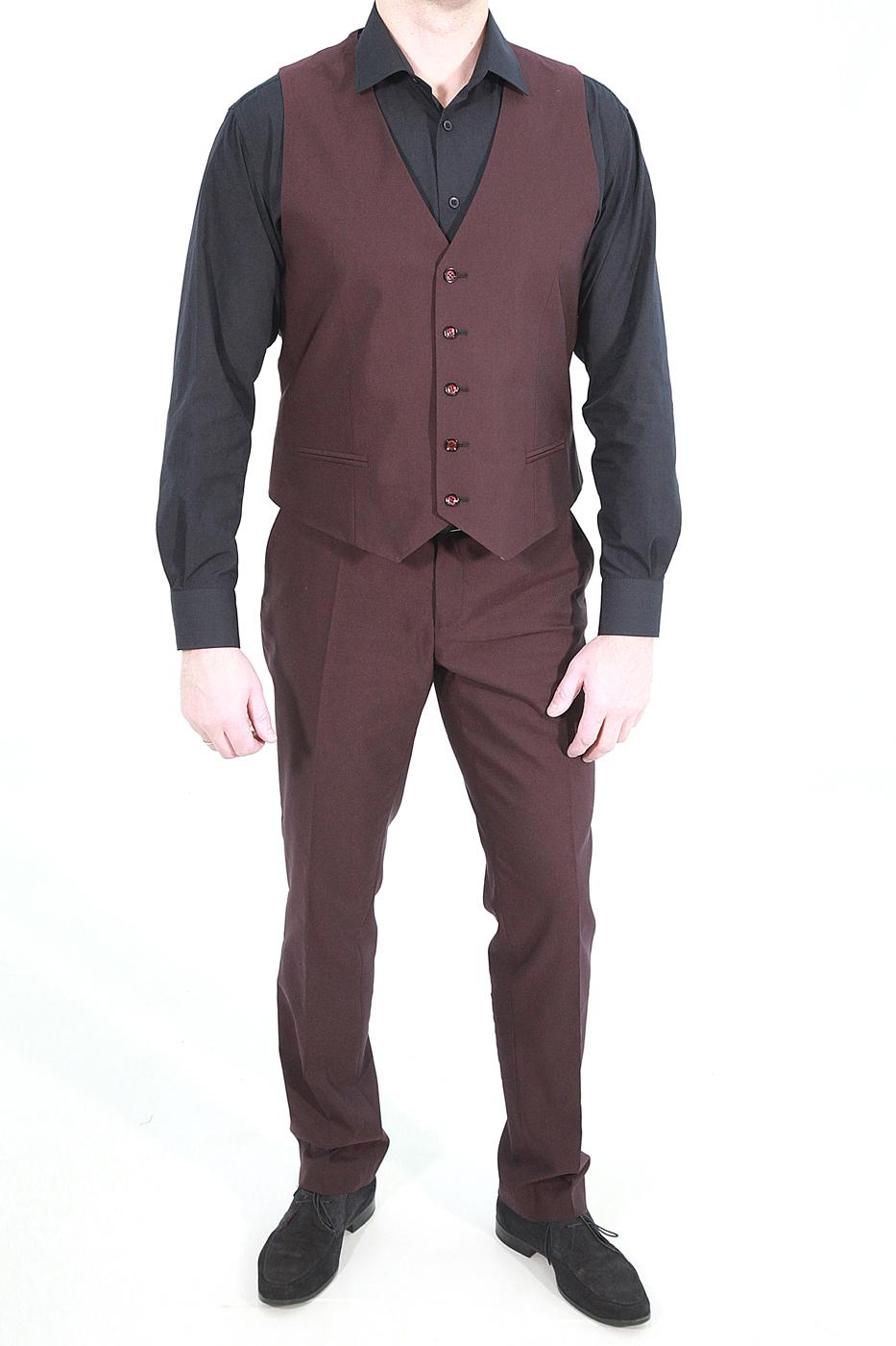 Бордовый мужской жилет 697 (HONEY-1291)