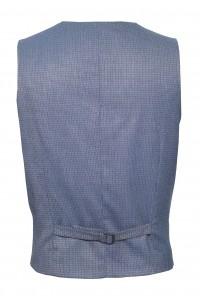 Серый мужской жилет в мелкий синий узор 889 (SUNSET-1296)