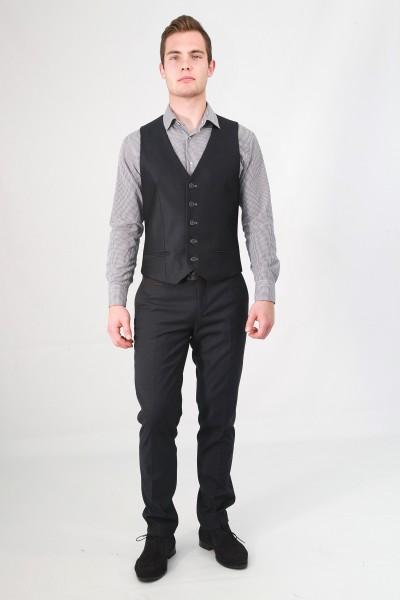 Тёмно-серый мужской жилет